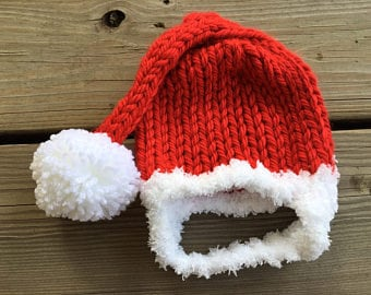 Chunky Knit Chinstrap Hat for Babies