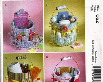 Bucket Organizers in Three Sizes / Original McCall's Crafts Uncut Sewing Pattern M4858