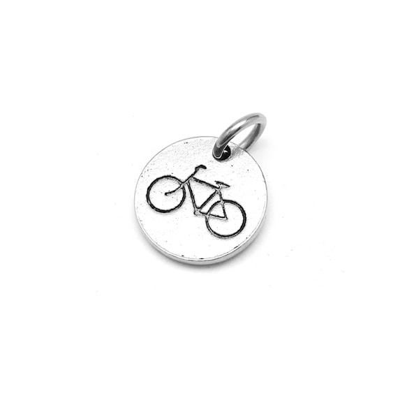 Bike Stamp Charm -  Bicycle Jewelry - Add a Charm - Create Your Own Charm Bracelet - Nickel Free - Hypoallergenic