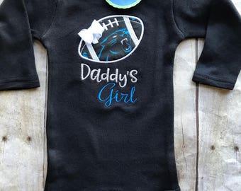Carolina Panthers Inspired Girl Shirt or bodysuit