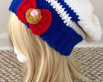 READY TO SHIP Sailor Moon Inspired Slouchy Hat - Women/Teens - Cosplay, Otaku