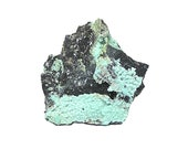 Planerite Blue Crystalline Botryoidal Druzy on Rock Matrix Mineral Specimen mined in Arkansas, Gem related to Turquoise