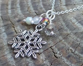 Snowflake Charm Cluster Bead Pendant