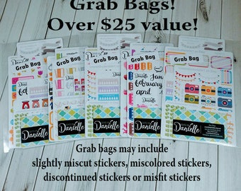 40-50% OFF SALE - Planner Stickers Grab Bag, Planner Stickers Sale, Seconds Planner Stickers, Planner Sticker Clearance Sale, Misfit Sticker