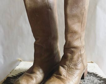 Vintage Leather Riding Boots