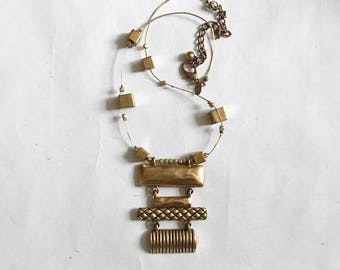 Hammered Brass Necklace