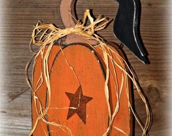 Wooden Pumpkin Table Sitter ~ Pumpkin Decor ~ Rustic Pumpkin ~ Primitive Pumpkin ~ Fall Decor ~ Autumn Decor ~ Thanksgiving Decor
