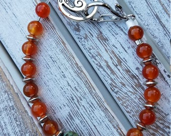 Turquoise and Carnelian Bracelet