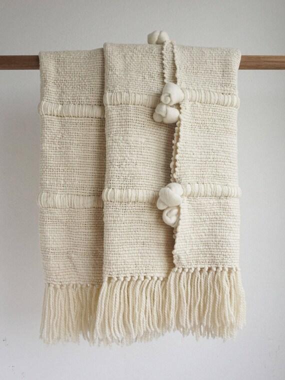 100 merino wool blanket knot throw afghans blanket woven. Black Bedroom Furniture Sets. Home Design Ideas