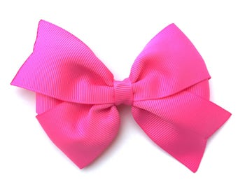 4 inch bright pink hair bow - pink hair bow, girls hair bows, 4 inch bows, pinwheel bows, girls bows, toddler bows, pink bows, hair clips