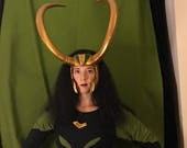 Loki - Thor Ragnarok Style Headpiece and Pin *Updated Design*  Made to Order