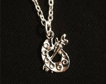 Charm necklace: an artist's palette