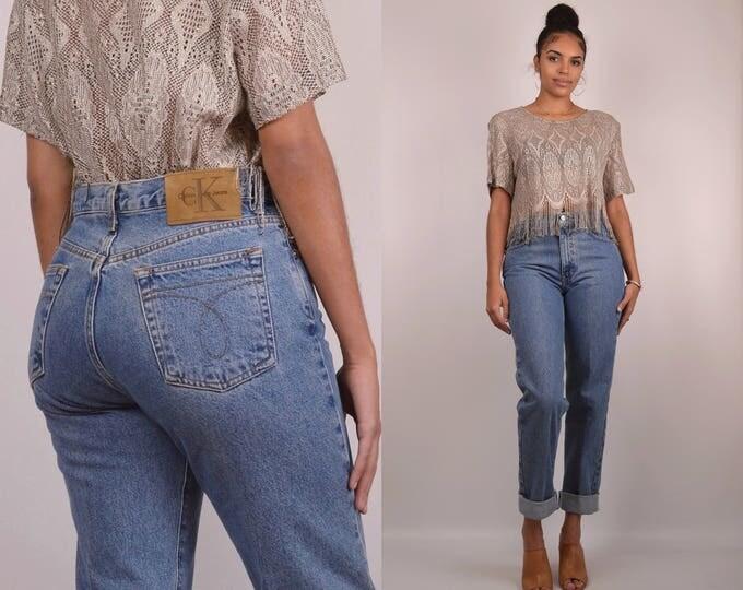 """Calvin Klein Jeans - high waist vintage denim, 31""""W"""