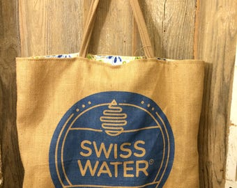 Swiss Water Coffee Bean Biggie bag tote