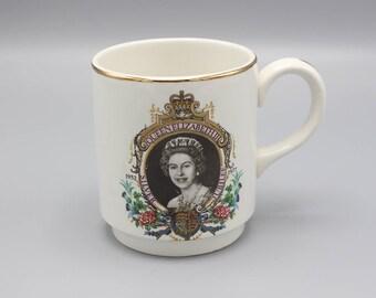 1977 Queen Elizabeth II Silver Jubilee Mug Commemorative P&K Olympic