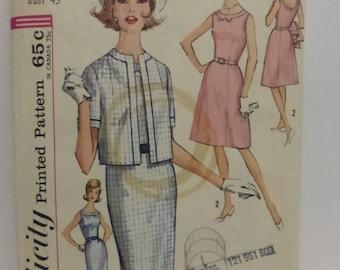 Vintage Simplicity Pattern 4989 Women's Half Size Dress and Jacket 24 1/2