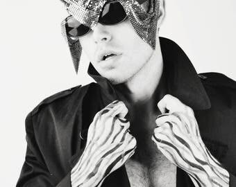 Zocculus Mesh metallic Shades Mens Womens Sunglasses avant garde futuristic festival glasses accessory burning man festival