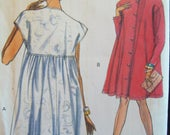 Flared Dress Coat Dress Very Easy Very Vogue Pattern 8047 Uncut Sizes 8, 10, 12