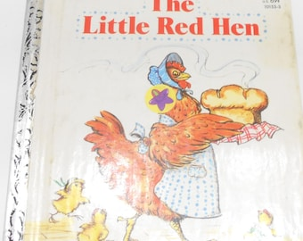 Vintage 1981 Copyright, The Little Red Hen (14) A First Little Golden Book