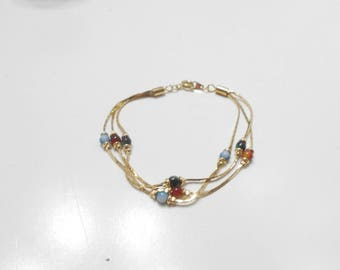 Vintage Triple Strand Beaded Bracelet (1537) Korea