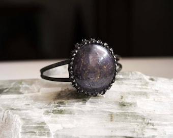 Large Star Ruby Cuff Bracelet