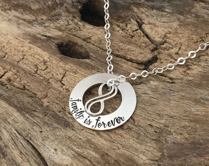 Family is Everything | Infinity Necklace | Family jewelry | Infinity Jewelry | Personalized Infinity Necklace | Gift for Family Member