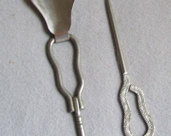 Vintage Combination Folding Shoe Horn & Buttonhook