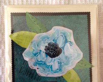 Handmade Mixed Media Greeting Card Thank you So Much Friend Family