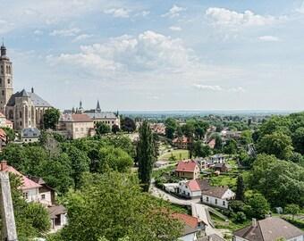 Kutná Hora Czech Republic Czechia City Skyline Cityscape Home Decor Art Photo Print