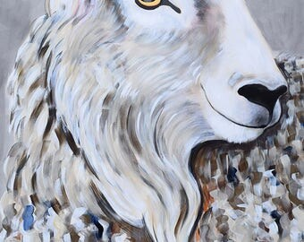 9x12, 18x24, 40x50 Fine Art Giclee print of Original painting on paper by artist Natalie Jo Wright, contemporary art