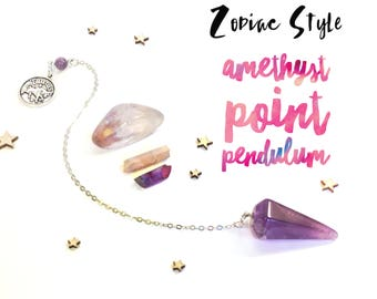 Amethyst Pendulum - Zodiac Series