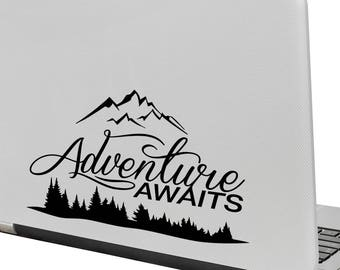 Adventure Awaits Vinyl Decal - fits cars, windows and any smooth surface K683