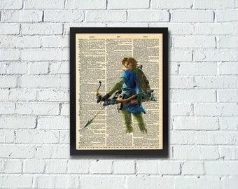 Legend of Zelda Link Breath of the Wild Dictionary Art