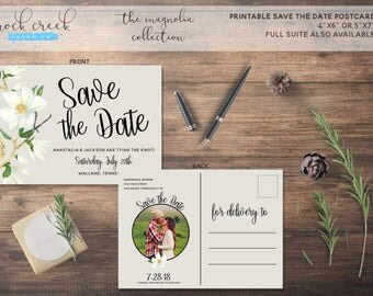 The Magnolia Collection Printable Save The Date Card