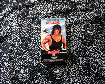 Rambo 3 VHS Tape. Cult Classic 80s Sylvester Stallone Action Vhs Movie.  Awesome 80s Stallone Rambo  Movie.