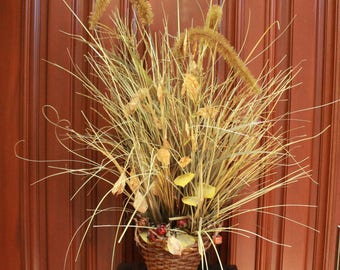 Arrangement - Cattails and Grass  (F17-6)