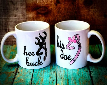 Her Buck- His Doe Coffee Mug (Set)