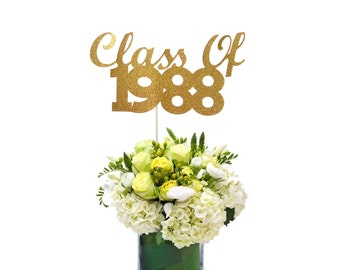 Class of 1988 Table Decoration, 30th Class Reunion Centerpiece Stick, High School 30th Reunion, 30th Reunion Wand, 30th Reunion Party Decor