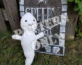Gabe The Super Soft Ghost Crochet Pattern PDF File- Halloween Crochet Pattern- Ghost Crochet Pattern