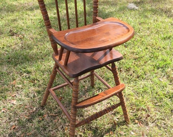 Jenny Lind high chair, Wooden Child's High Chair, Wooden Children's Seat,  Quaint Chair, Primitive High Chair,