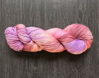 Hand Dyed, hand painted Yarn - Mauvin' Up - AliBash 2 Ply