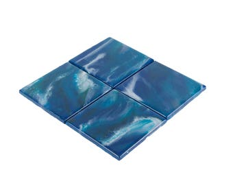 Midnight Waves Coasters - Set of 4