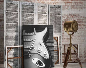 Electric guitar decor/rock and roll/Fender guitar/guitar player gift/music player gift/man cave decor/Fender guitar/guitar print/poster