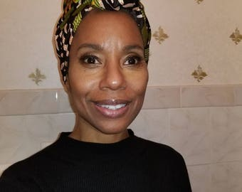 African Accessories: H o d a r i  African Print Head Wrap