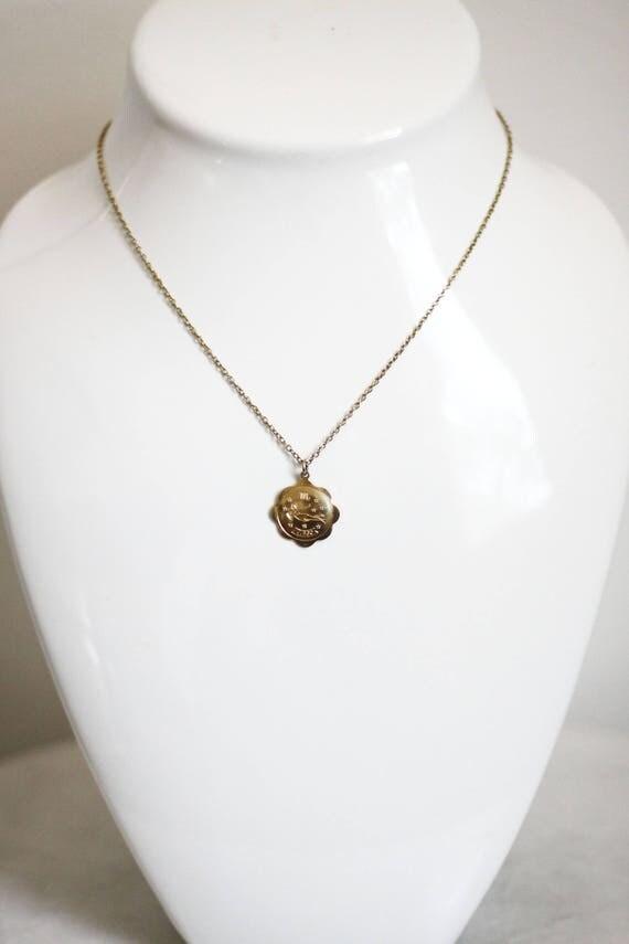 1980s Virgo necklace // 1980s astrological necklace // vintage jewlery