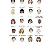 The Office Mood Chart - Digital Download
