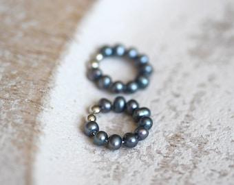 Black Pearl Non Pierced Earrings, June Birthstone Jewelry, Non Pierced Earrings