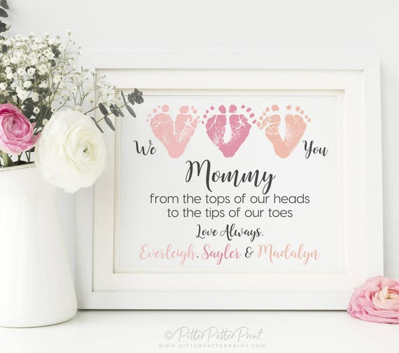 Mothers day gift from triplets new mom personalized we like this item negle Images