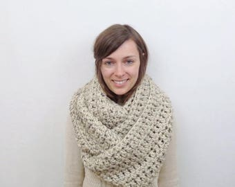 SALE Giant Chunky Knit Infinity Scarf Wool Circle Scarf | THE ANCHORAGE