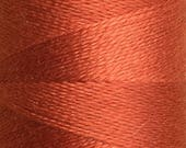 Rust, Silk Machine Threads, 100% Mulberry Silk, Plain Dyed, Luxury Silk Threads, Spun Silk, Solid Colours, 300m, 325yds